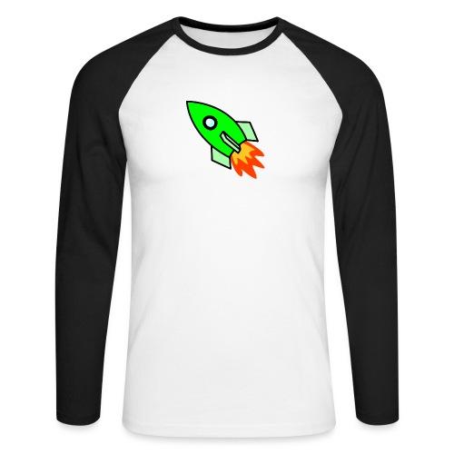 neon green - Men's Long Sleeve Baseball T-Shirt