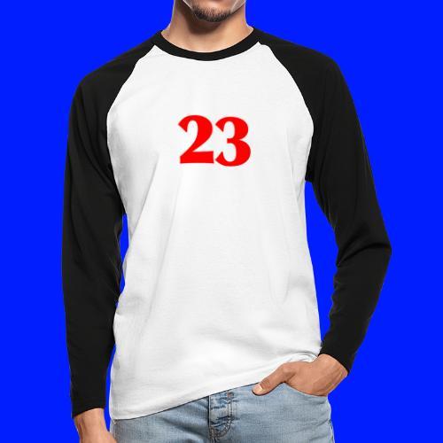 Number 23 - Långärmad basebolltröja herr