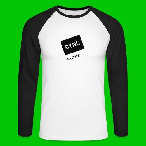 t-shirt-DIETRO_SYNK_SUCKS-jpg - Maglia da baseball a manica lunga da uomo