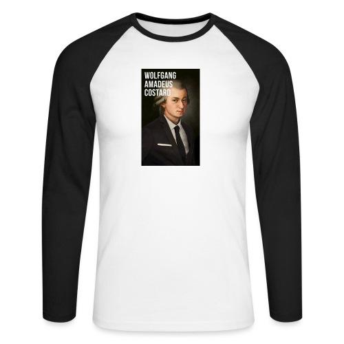 Wolfgang Amadeus Costard - T-shirt baseball manches longues Homme