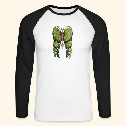 Fibonacci butterfly - Maglia da baseball a manica lunga da uomo