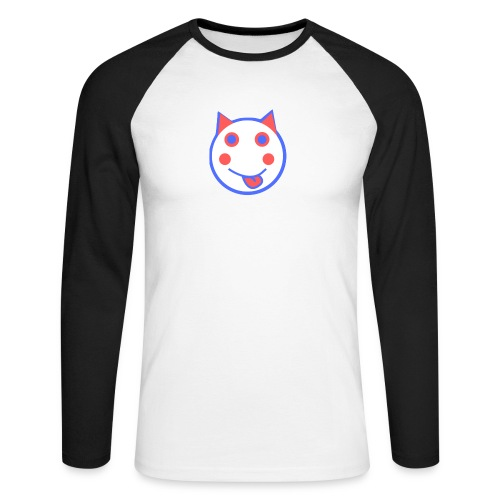 Red White And Blue - Alf Da Cat - Men's Long Sleeve Baseball T-Shirt
