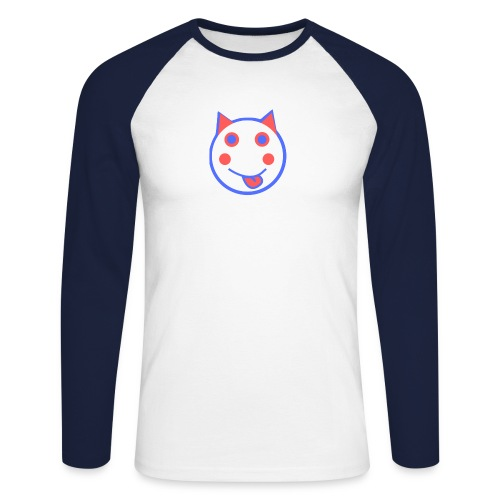 Alf Cat RWB | Alf Da Cat - Men's Long Sleeve Baseball T-Shirt