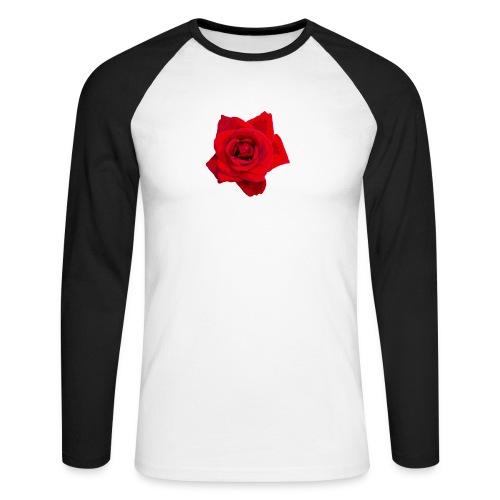 Red Roses - Koszulka męska bejsbolowa z długim rękawem
