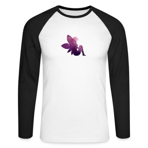 Purple fairy - Langermet baseball-skjorte for menn