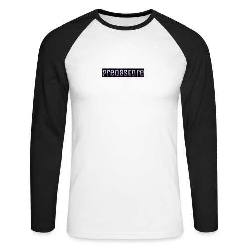 PredaStore Original Logo Design - Men's Long Sleeve Baseball T-Shirt