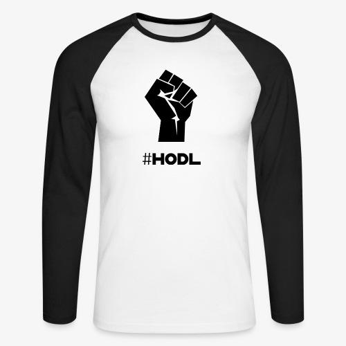 HODL-fist-b - Men's Long Sleeve Baseball T-Shirt