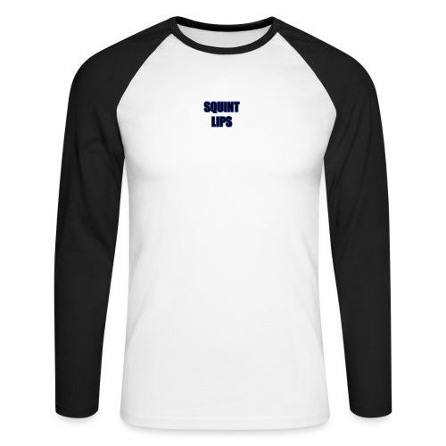 Squint Lips Merch - Men's Long Sleeve Baseball T-Shirt