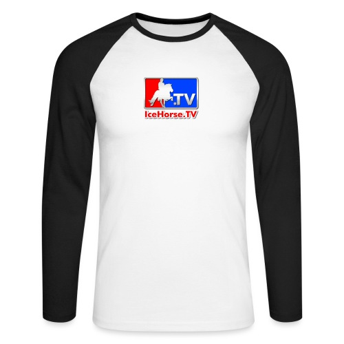 IceHorse logo - Men's Long Sleeve Baseball T-Shirt