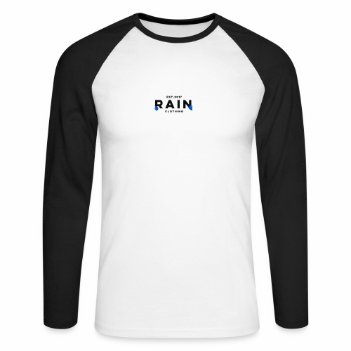 Rain Clothing Tops -ONLY SOME WHITE CAN BE ORDERED - Men's Long Sleeve Baseball T-Shirt