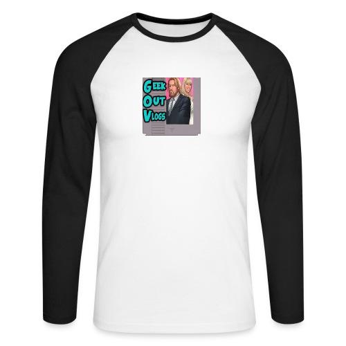 GeekOut Vlogs NES logo - Men's Long Sleeve Baseball T-Shirt