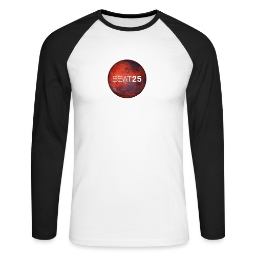Mars and Logo - Men's Long Sleeve Baseball T-Shirt