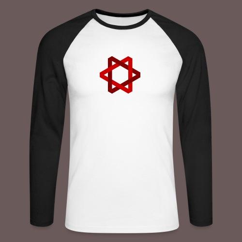 Two Triangles - Langærmet herre-baseballshirt
