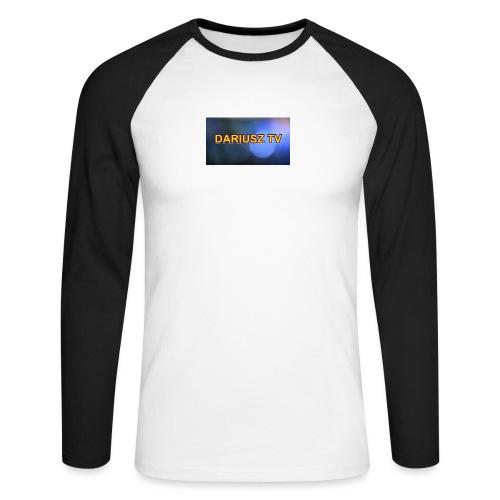 DARIUSZ TV - Koszulka męska bejsbolowa z długim rękawem