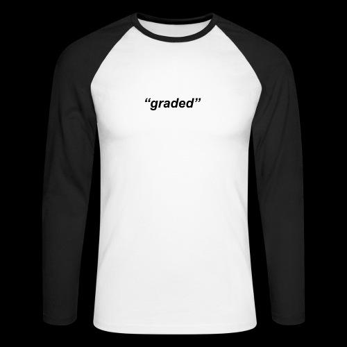 Simple Logo, Graded - Men's Long Sleeve Baseball T-Shirt