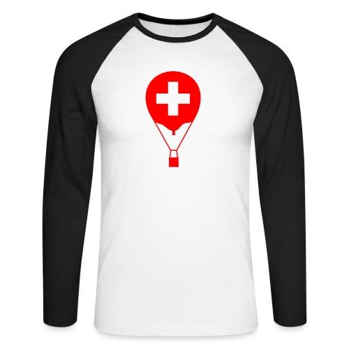 Gasballon im schweizer Design - Männer Baseballshirt langarm