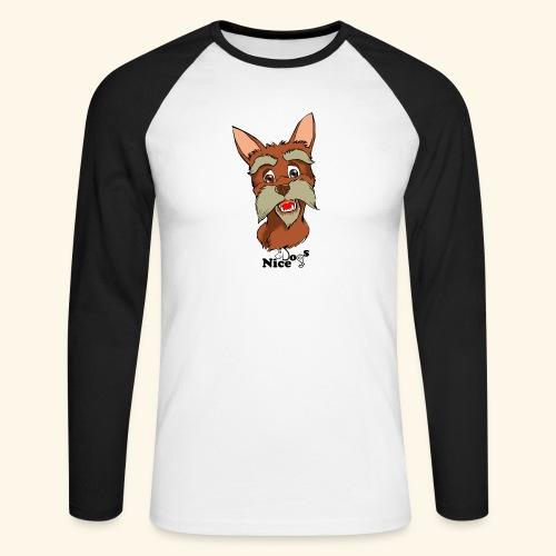 Nice Dogs schnauzer 2 - Maglia da baseball a manica lunga da uomo