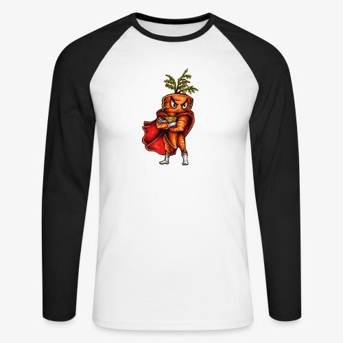 Super Carrot - Männer Baseballshirt langarm