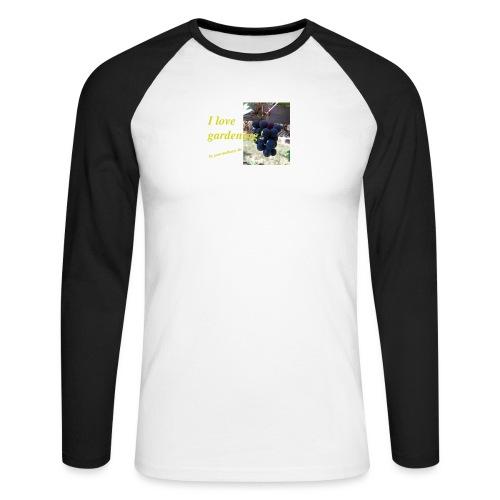 Weintraube - I love gardening - Männer Baseballshirt langarm