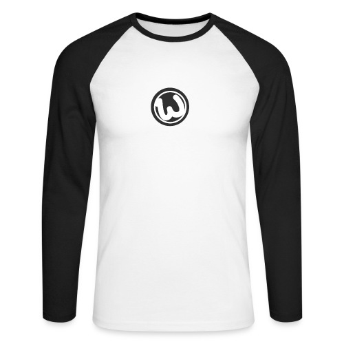 Wooshy Logo - Men's Long Sleeve Baseball T-Shirt