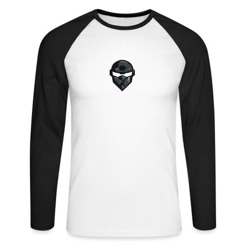 Mainlogo - Langærmet herre-baseballshirt