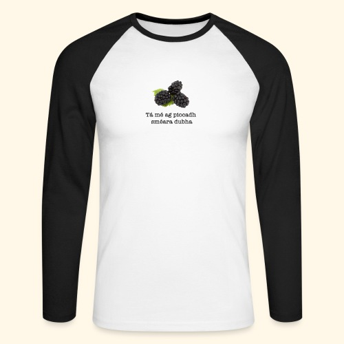 Picking blackberries - Men's Long Sleeve Baseball T-Shirt