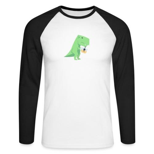 Tea-Saurus - Männer Baseballshirt langarm