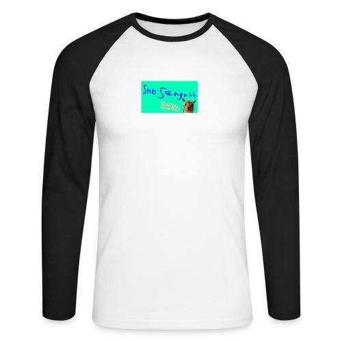 Llamanators2 - Men's Long Sleeve Baseball T-Shirt
