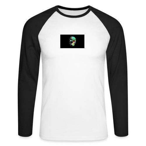 skeleton official logo - Men's Long Sleeve Baseball T-Shirt