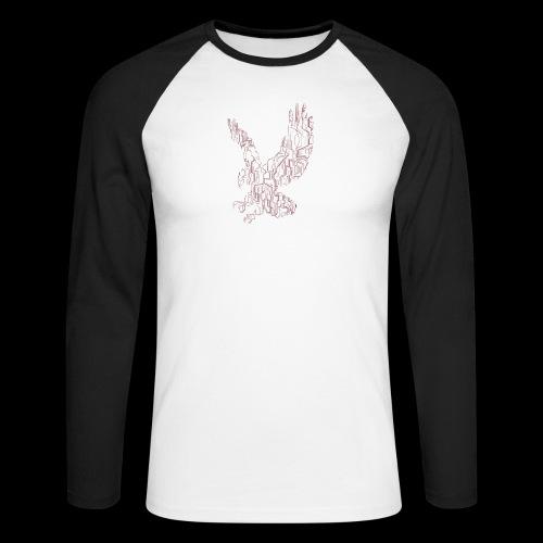 Eagle circuit - Langærmet herre-baseballshirt