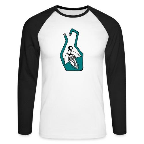 Julian Reaching - Men's Long Sleeve Baseball T-Shirt