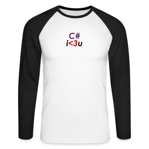C# is love - Maglia da baseball a manica lunga da uomo
