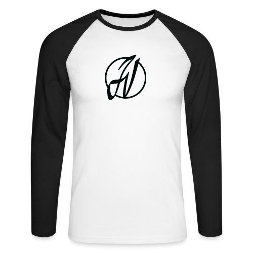 JV Guitars - logo noir - T-shirt baseball manches longues Homme