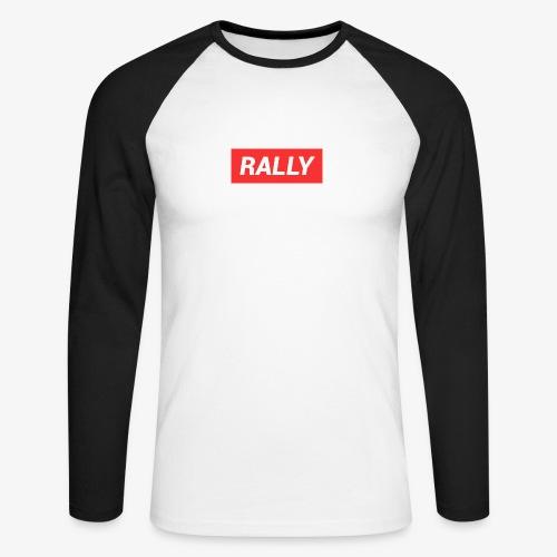 Rally classic red - Långärmad basebolltröja herr