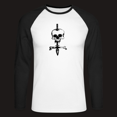 Skull Symbol - Männer Baseballshirt langarm