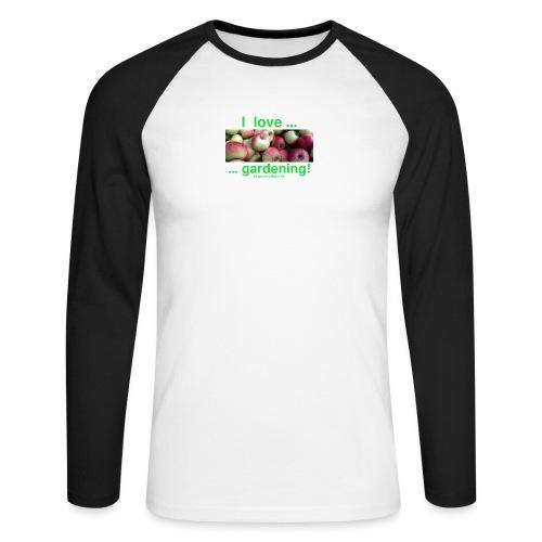 Äpfel - I love gardening! - Männer Baseballshirt langarm