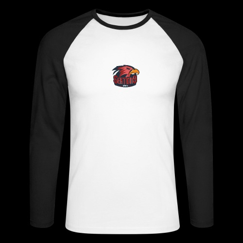 Sektion9 logo Rot - Männer Baseballshirt langarm