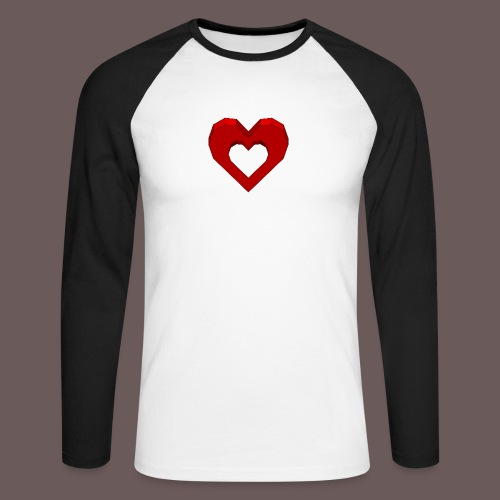 Heart Illusion - Langærmet herre-baseballshirt