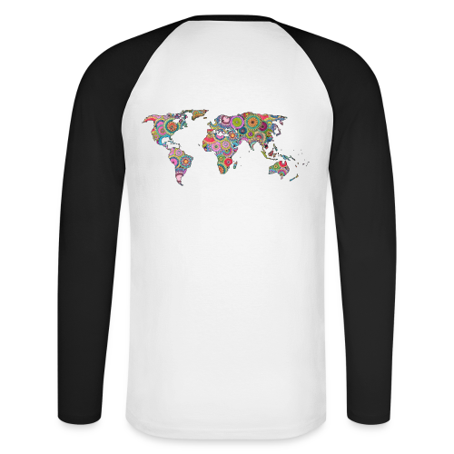 Hipsters' world - Men's Long Sleeve Baseball T-Shirt