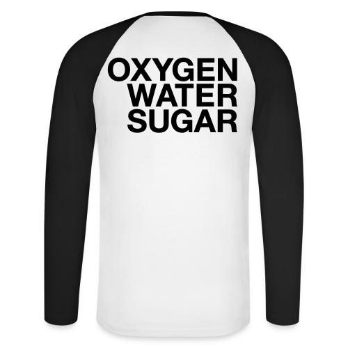 Oxygen water sugar - Langærmet herre-baseballshirt