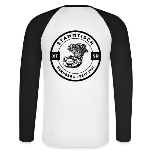xt stammt logo schwarz - Männer Baseballshirt langarm