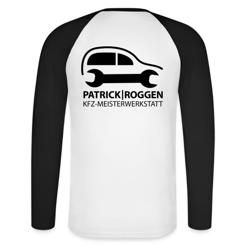 patrick logogr final schwarz kopie - Männer Baseballshirt langarm