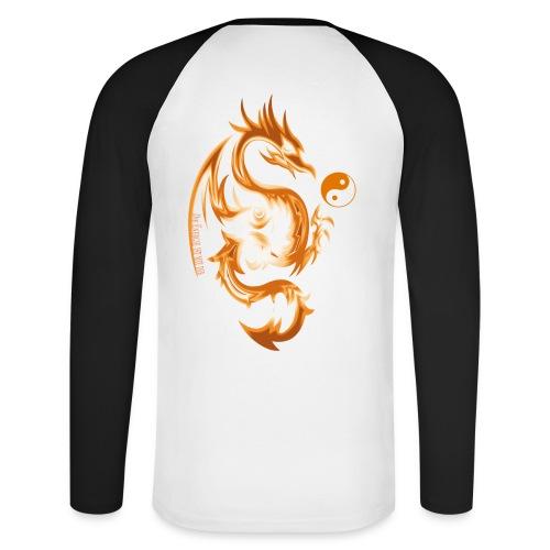 Der Drache spielt mit der Energie des Lebens. - Männer Baseballshirt langarm