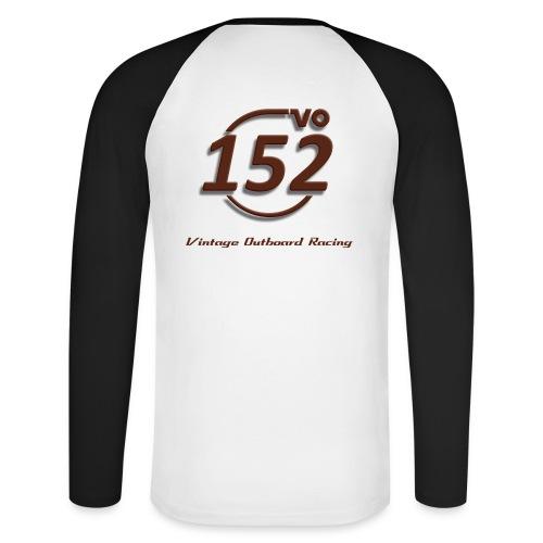 152VO Klassenzeichen mahogany - Männer Baseballshirt langarm