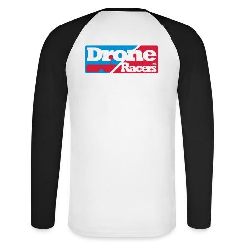 droneracers_logo_final - Mannen baseballshirt lange mouw