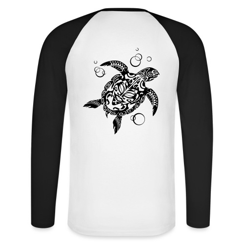 Watchful Turtle - Men's Long Sleeve Baseball T-Shirt