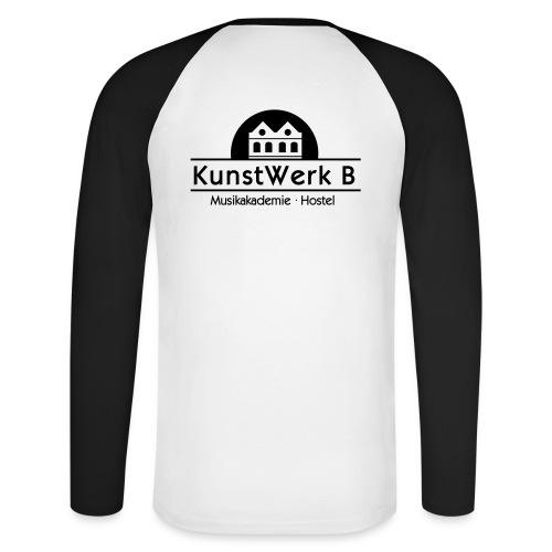 Logo KunstWerk B Black - Männer Baseballshirt langarm