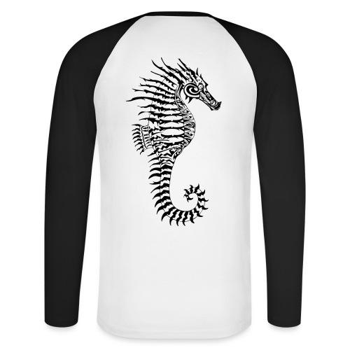 Alien Seahorse Invasion - Men's Long Sleeve Baseball T-Shirt