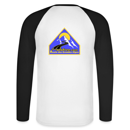 Logo motofree bleu - T-shirt baseball manches longues Homme
