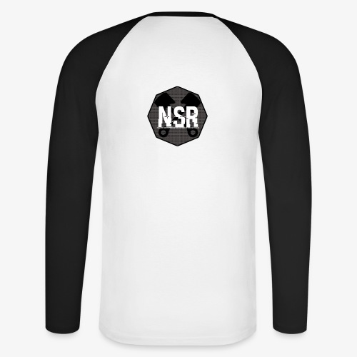 NSR B/W - Miesten pitkähihainen baseballpaita